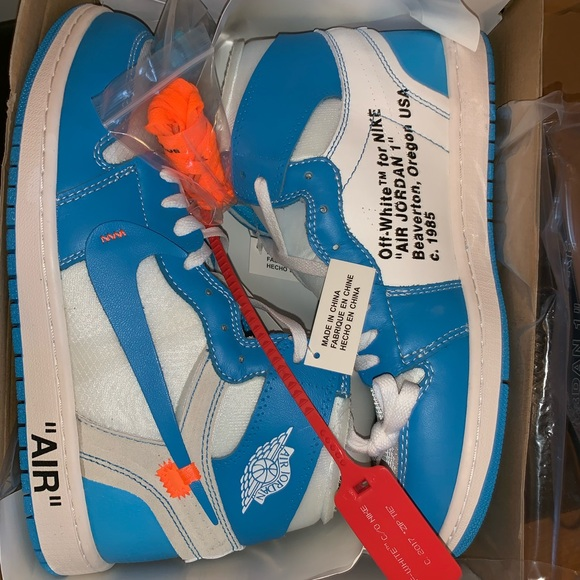 3ed01bcb7bb Off-White Shoes | Offwhite Unc Jordan 1 Nwt Deadstock Authentic ...